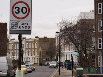 Bolney St speed sign