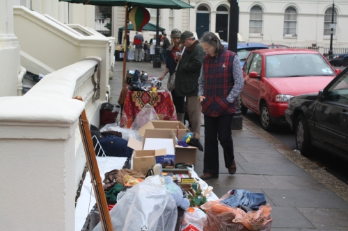 Local Residents sell their wares.